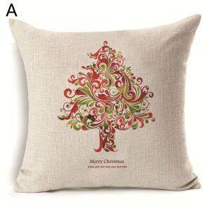 (EU Lager)Kissenhülle Weihnachten Tannenbaum Design