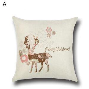 (EU Lager)Kissenhülle Weihnachten Weihnachtshirsch Design