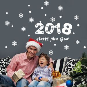 PVC Wandtattoo 2018 Happy New Year Design