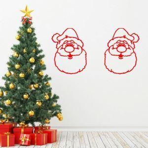 PVC Wandtattoo Weihnachten Weihnachtsmann Design