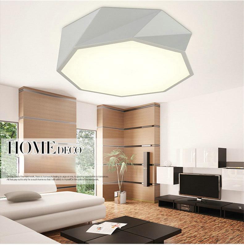 Geometrische Deckenleuchte Led Modern im Wohnzimmer