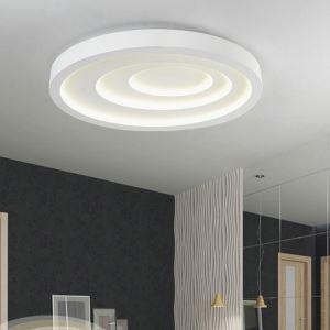 Led Deckenleuchte Modern Oval Design Weiß im Schlafzimmer