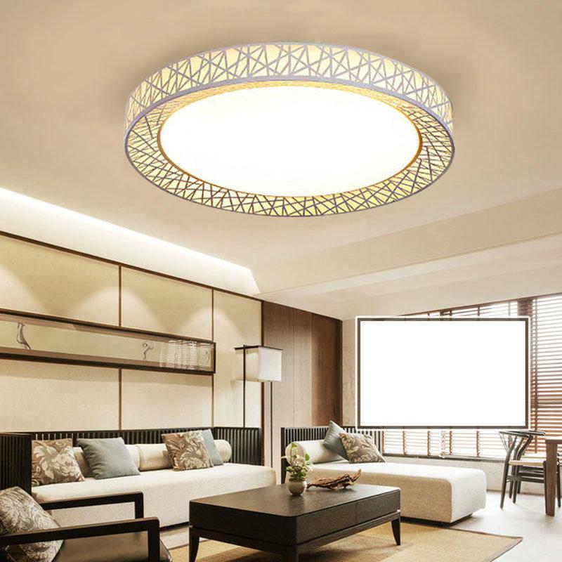 Led Deckenleuchte Modern Nest Design im Wohnzimmer