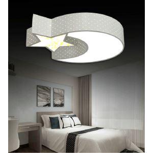 Led Deckenleuchte Modern Mond und Stern Design im Schlafzimmer
