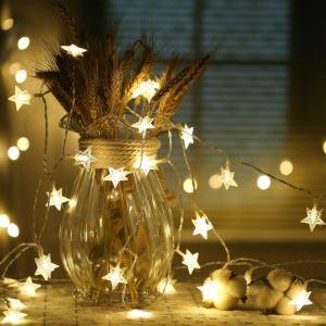 100er Led Lichterkette Sternen Design für Dekoration