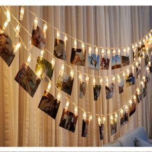 10er Led Lichterkette Klammer Design für Party Dekoration
