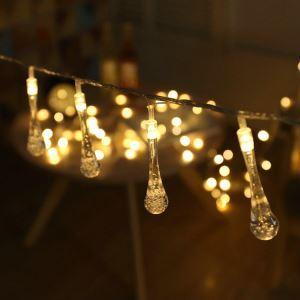 Led Lichterkette Wassertropfen Design für Weihnachten Dekoration