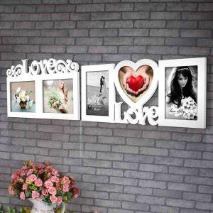 Moderne Bilderrahmen aus Holz in Weiß
