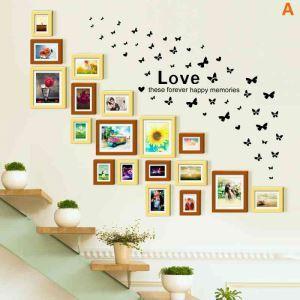 18er Bilderrahmen Set Wand Europäisch aus Holz