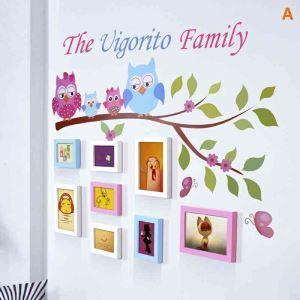 8er Bilderrahmen Set Modern Wand aus Holz