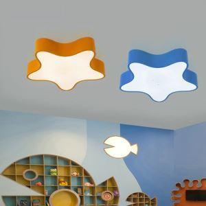 Moderne Deckenleuchte Led Stern Design im Kinderzimmer
