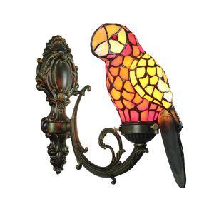 Wandleuchte Kronleuchter Tiffany Antik Stil Papagei Muster