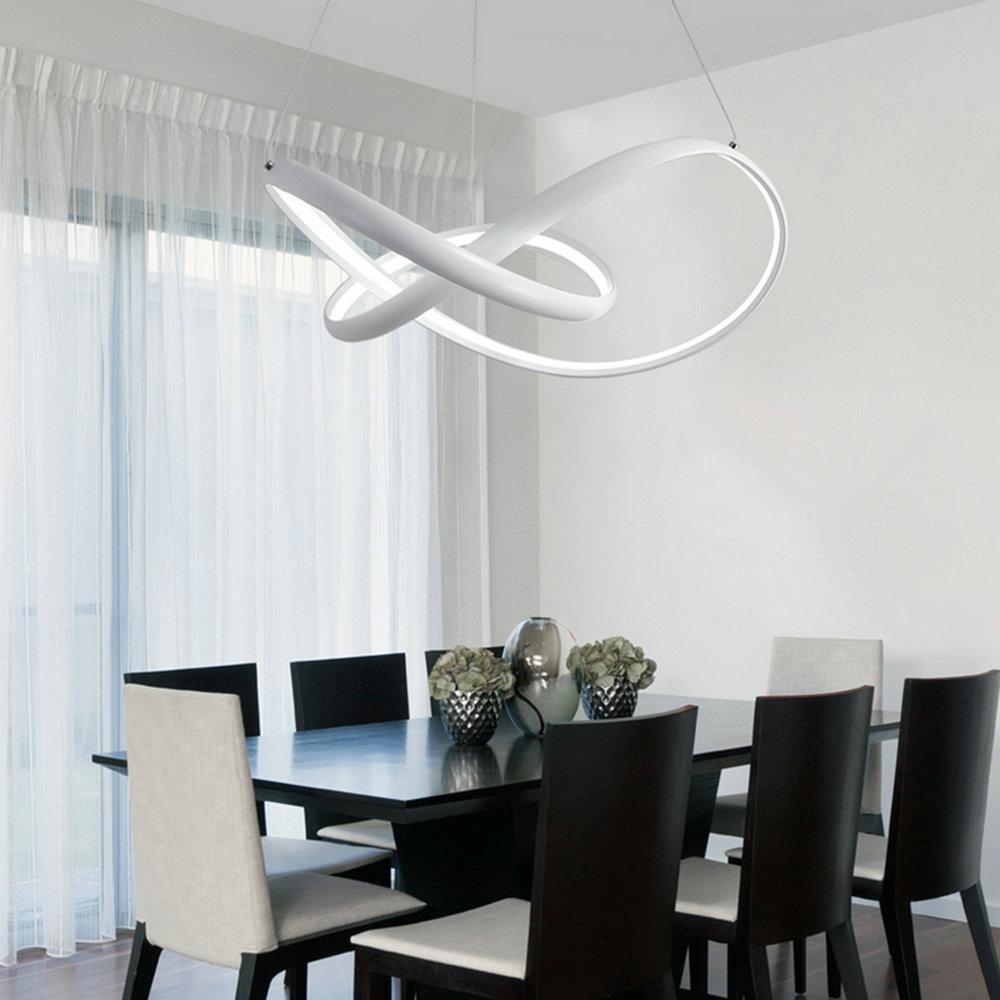 Led Pendelleuchte Modern Kreativ Linien Design im Wohnzimmer