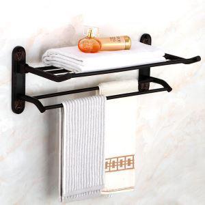 Handtuchhalter Bad Schwarz aus Messing Wandmontage
