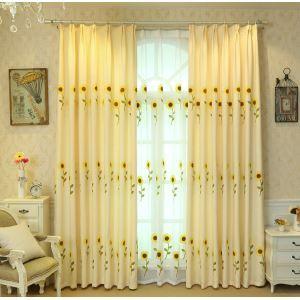 Gardine Modern Sonnenblume Design im Wohnzimmer (1er Pack)