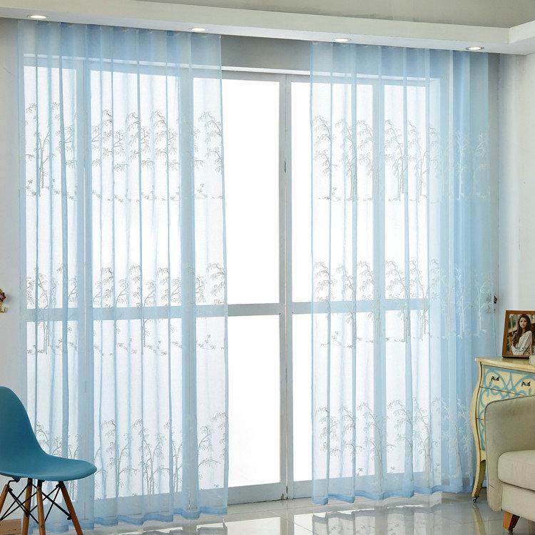 Moderne Gardine Bambus Design im Schlafzimmer