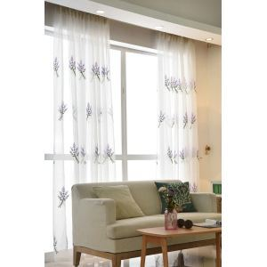 Moderne Gardine Lavendel Design im Schlafzimmer (1er Pack)