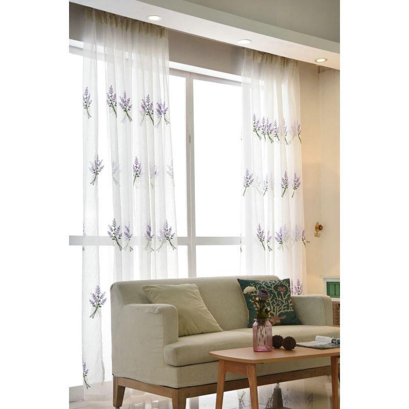 Moderne Gardine Lavendel Design im Schlafzimmer