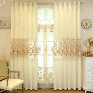 Moderne Gardine Rosen Design im Wohnzimmer (1er Pack)