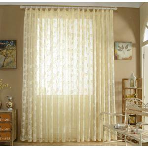 Moderne Gardine Blättern Design im Wohnzimmer (1er Pack)
