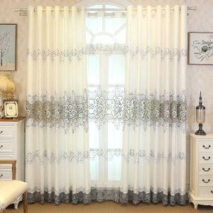 Moderne Gardine Pfingstrosen Design im Wohnzimmer (1er Pack)