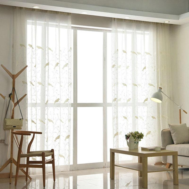 Moderne Gardine Vogel Design im Schlafzimmer