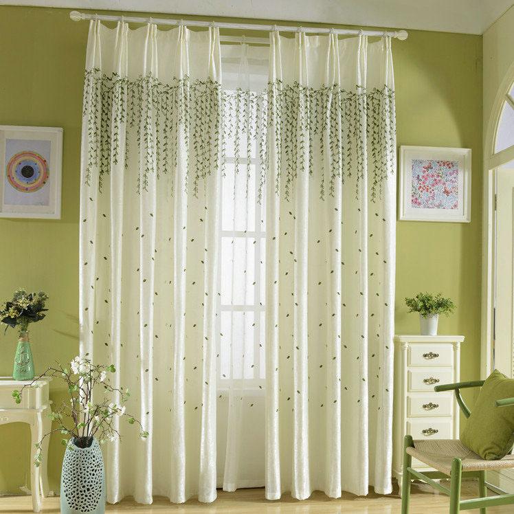 Moderne Gardine Transparent Zweig Design im Wohnzimmer (1er Pack)