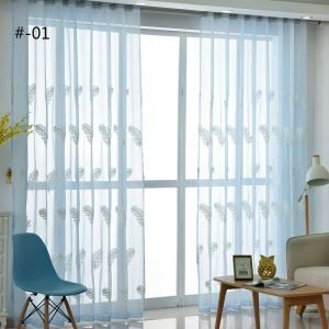 Moderne Gardine Federn Design im Schlafzimmer (1er Pack)