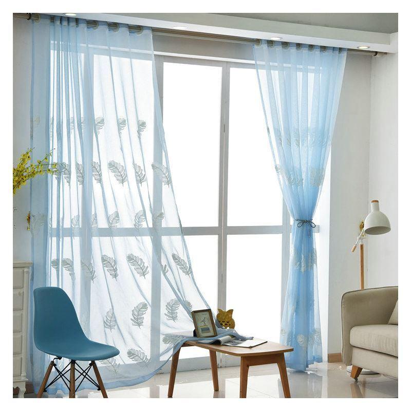 Moderne Gardine Federn Design im Schlafzimmer