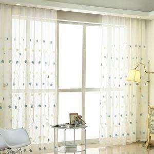 Moderne Gardine Blumen Design im Wohnzimmer (1er Pack)