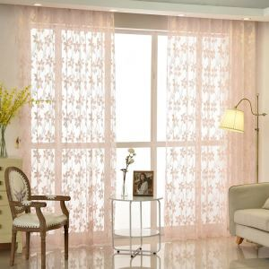 Moderne Gardine Spitze Floral Design im Schlafzimmer (1er Pack)