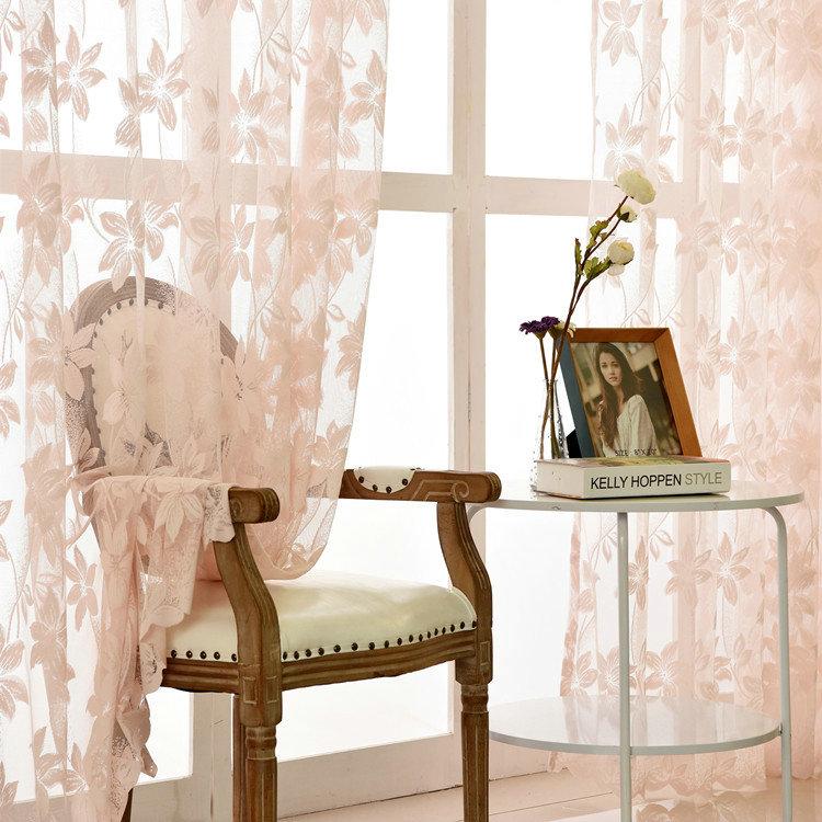 Moderne Gardine Spitze Floral Design im Schlafzimmer