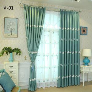 Moderner Vorhang Pusteblume Design aus Leinen im Wohnzimmer (1er Pack)