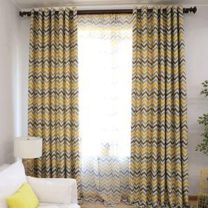 Vorhang Modern Streife Design aus Polyester im Schlafzimmer (1er Pack)