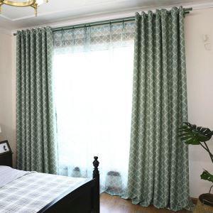 Moderner Vorhang Raute Design aus Polyester im Wohnzimmer (1er Pack)