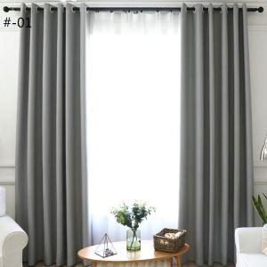 Vorhang Modern Unifarbe aus Polyester im Schlafzimmer (1er Pack)