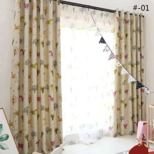 Moderner Vorhang Cartoon Pony Design aus Polyester im Kinderzimmer (1er Pack)