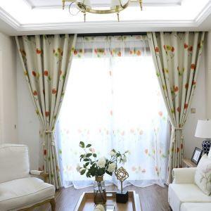 Moderner Vorhang Bunte Blumen Design aus Polyester (1er Pack)