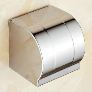 Toilettenpapierhalter mit Deckel Chrom aus Edelstahl Wandmontage