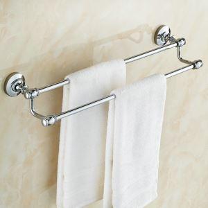 Handtuchstange Bad aus Messing Doppelt Chrom
