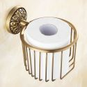 WC Papierhalter Antik Messing im Badezimmer