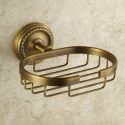 Antik Messing Seifenkorb Wandmontage Bad-accessoires