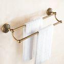 Antik Messing Handtuchstange Zweiarmig im Badezimmer