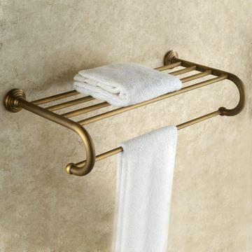 Handtuchhalter Bad Antik Messing Nickel Gebürstet im Badezimmer