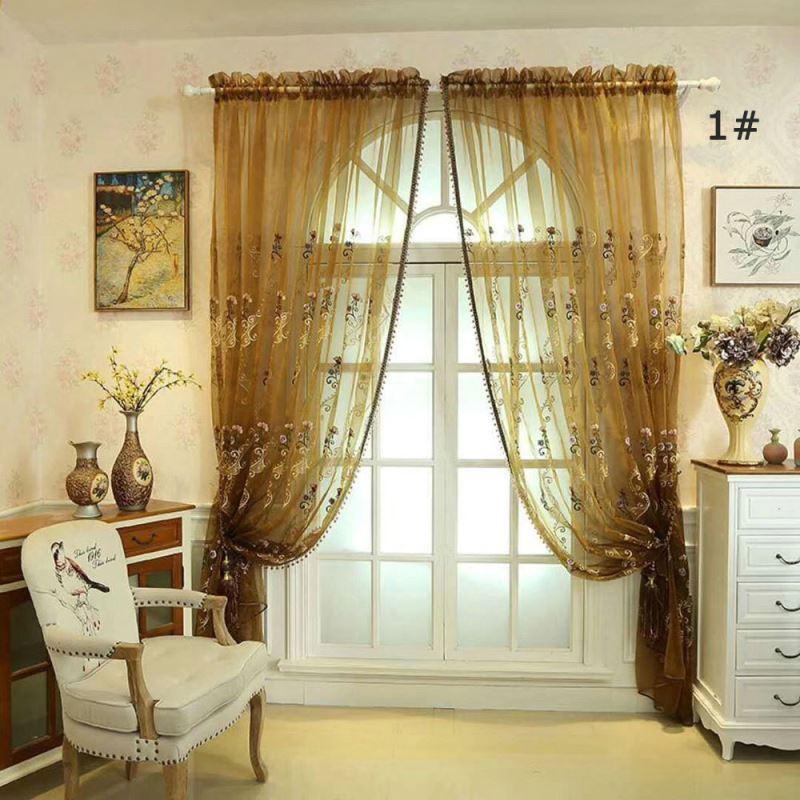 Amerikanische Stil Vorhang halb Verdunkelung im Schlafzimmer