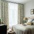 Zeige Details für (1er Pack) Vorhang Landhaus Stil Blumenranke Design aus Leinen im Schlafzimmer