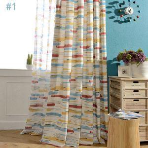 (1er Pack) Farbfroher Vorhang Modern Stilvoll im Kinderzimmer Wohnzimmer