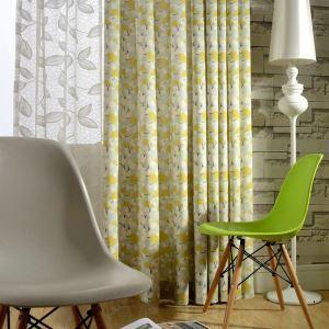 (1er Pack) Landhaus Vorhang Blumen Design im Wohnzimmer Kinderzimmer
