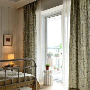 (1er Pack) Vorhang Vintage Totem Design im Wohnzimmer