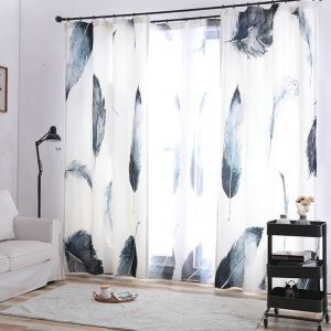 Moderner Vorhang Feder Muster Design im Wohnzimmer